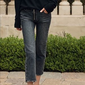 PAIGE Jeans - Paige Noella Straight Myra O-Ring Zipper